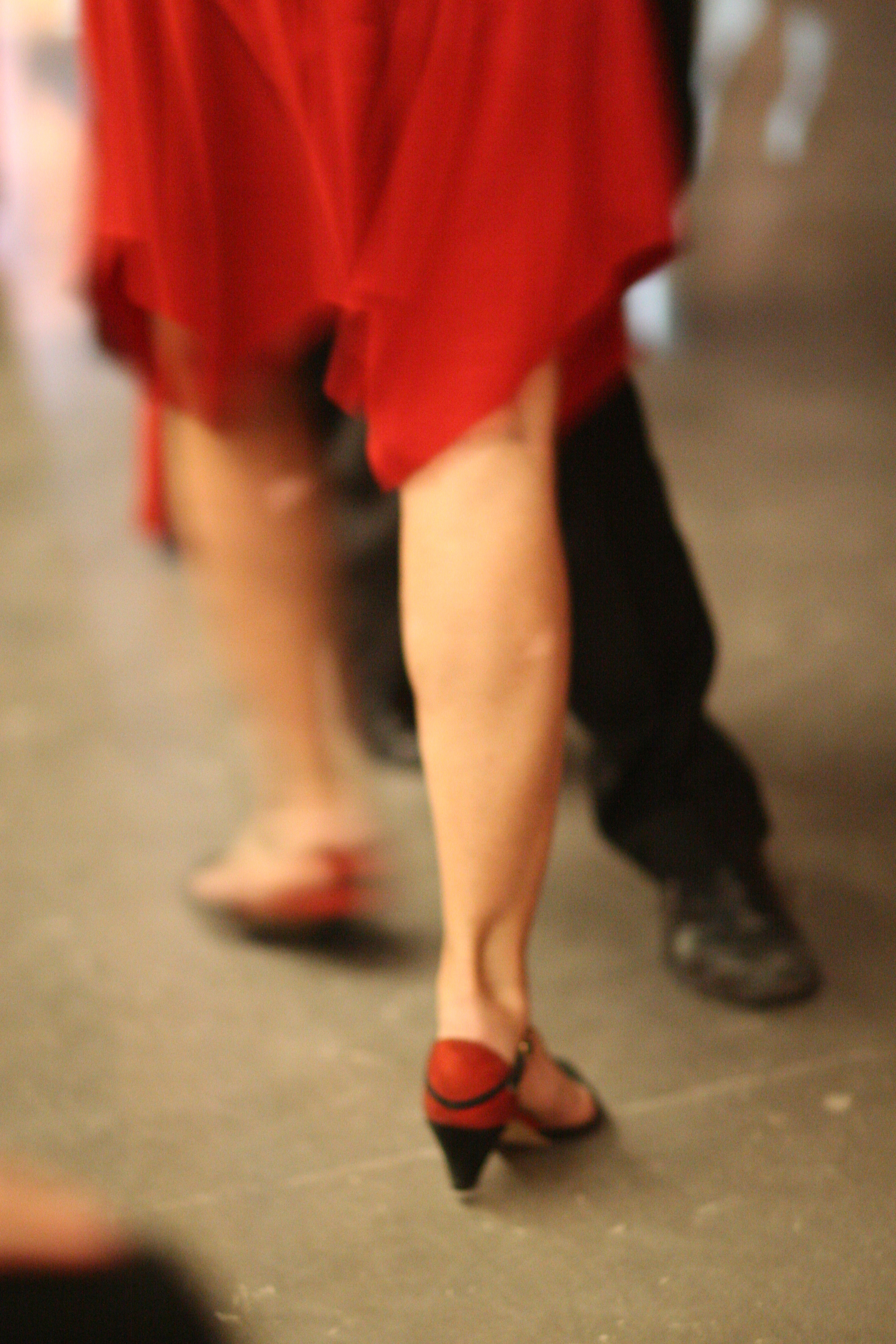 Movement during an Argentine Tango Dance.