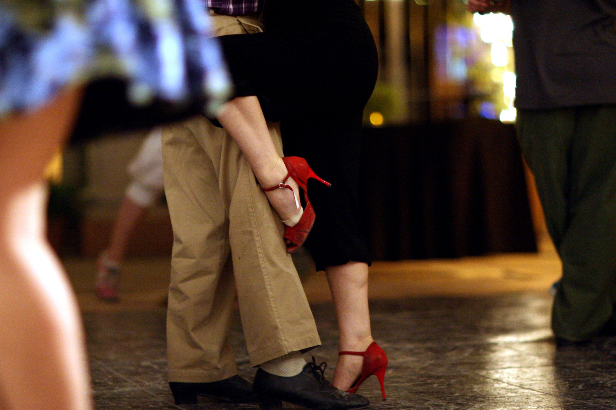 Close Dance Embrace during Argentine Tango Dance